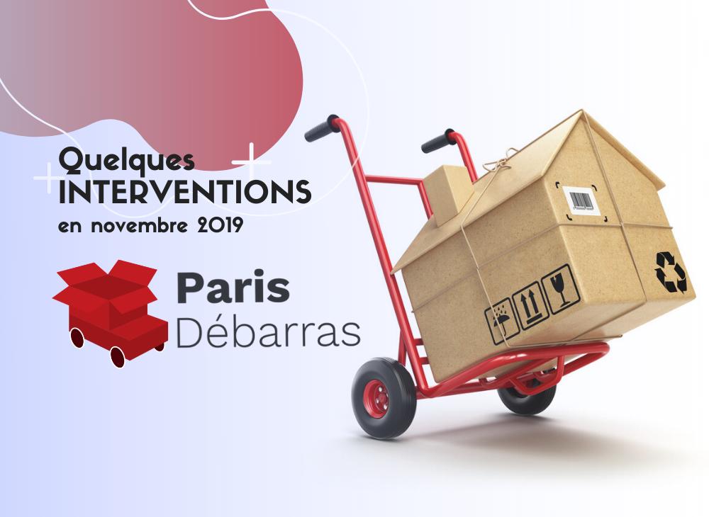 Interventions novembre 2019 - Paris Débarras